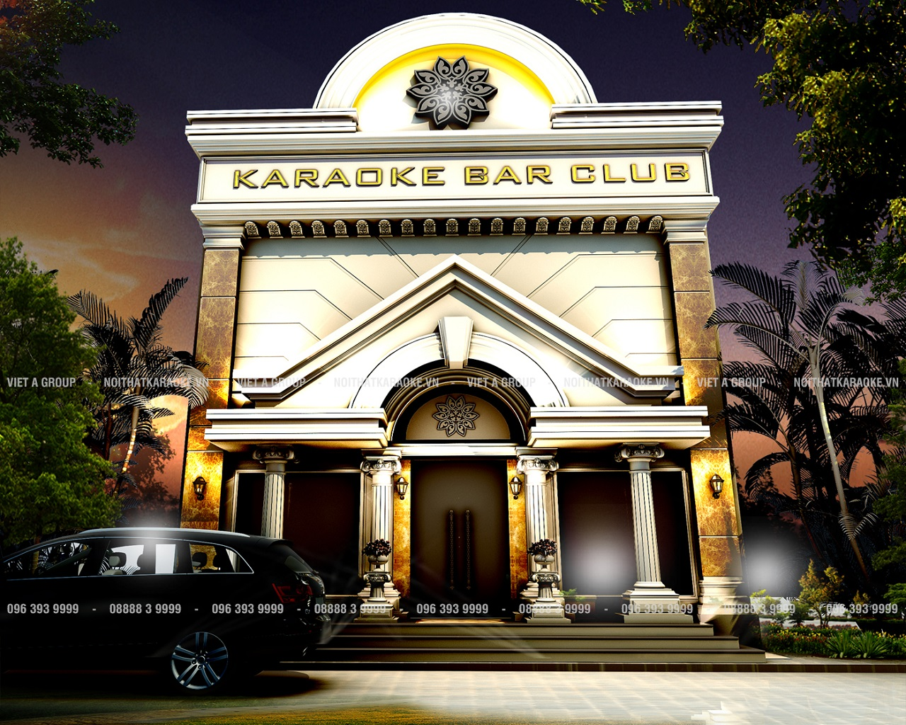 Mặt tiền karaoke Minh Thư Cao Bằng