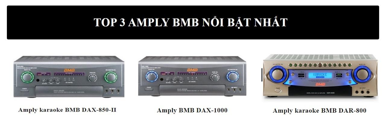 amply BMB được nhiều khách hàng ưa thích