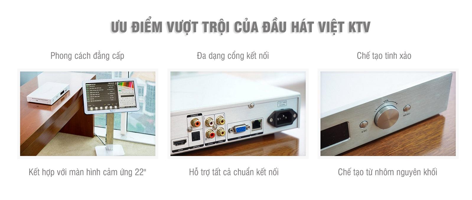 ưu điểm vượt trội của đầu hát Việt KTV
