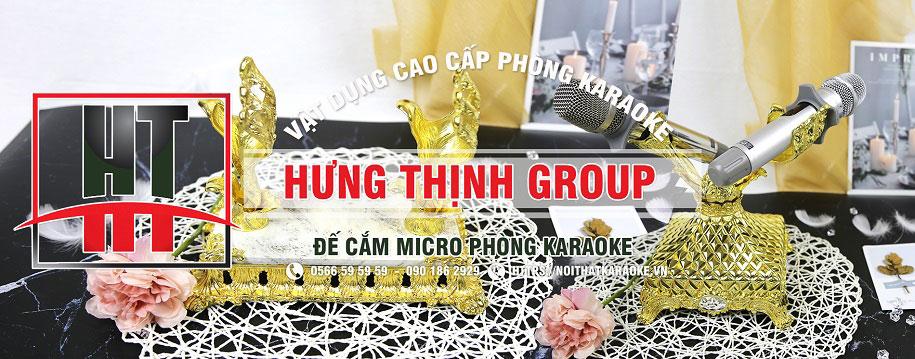 Đế cắm micro siêu ấn tượng cho phòng karaoke