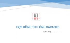 Hợp đồng thi công phòng karaoke [Mẫu mới nhất]