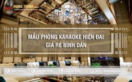 Mẫu phòng karaoke phong cách hiện đại giá rẻ bình dân