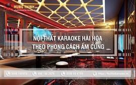 Thiết kế nội thất karaoke hài hòa theo phong cách ấm cúng đẳng cấp
