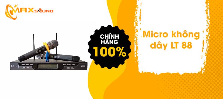 Micro không dây dùng cho cấu hình phòng karaoke 20 đến 25 m2 sàn