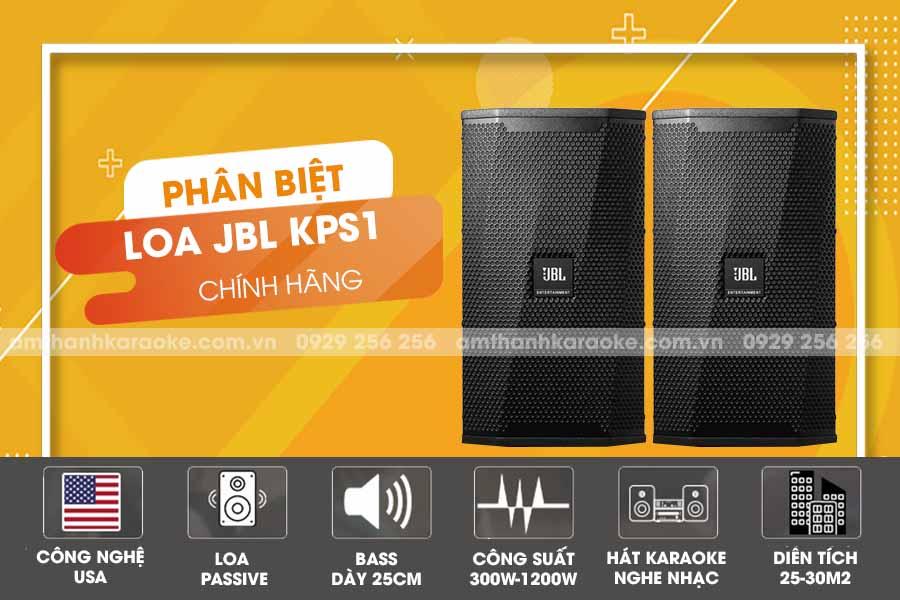 Loa JBL KPS 2 dùng cho cấu hình phòng karaoke 20 đến 25 m2 sàn