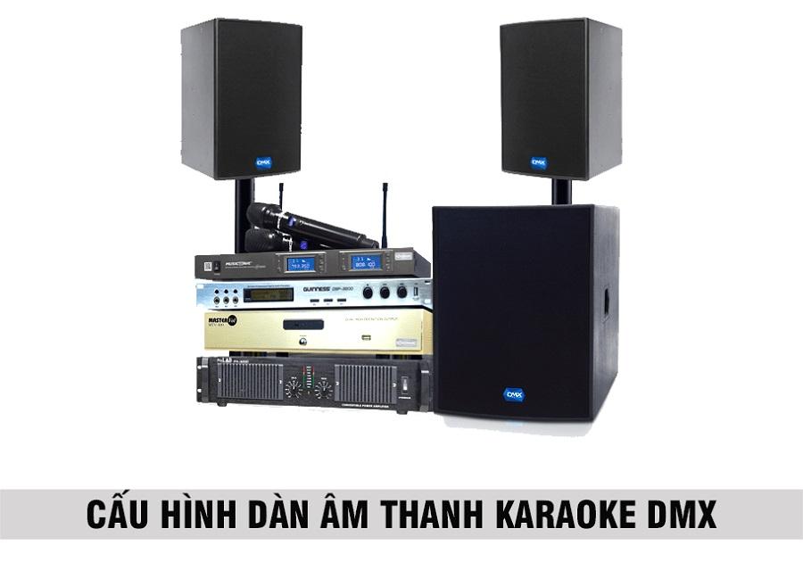 Cấu hình âm thanh karaoke của hãng DMX phòng 20 đến 25 m2 sàn