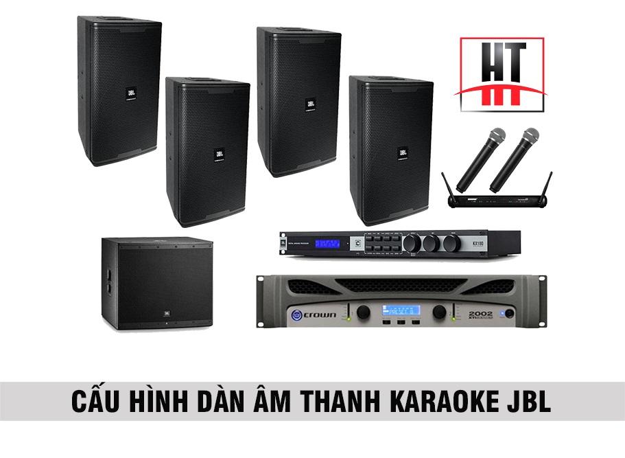Cấu hình dàn âm thanh karaoke jbl