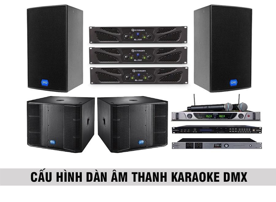 Cấu hình âm thanh DMX cho phòng karaoke 30 đến 35 m2 sàn