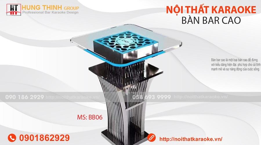 Bàn bar cao inox BB07