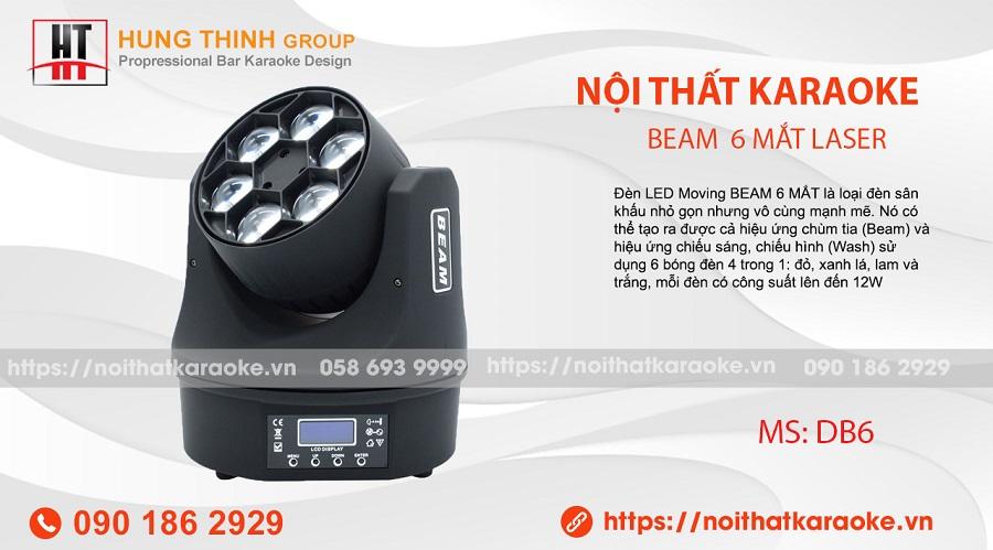 đèn moving beam 6 mắt