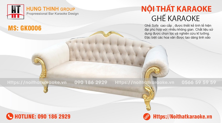 Ghế sofa tân cổ điển karaoke GK0006