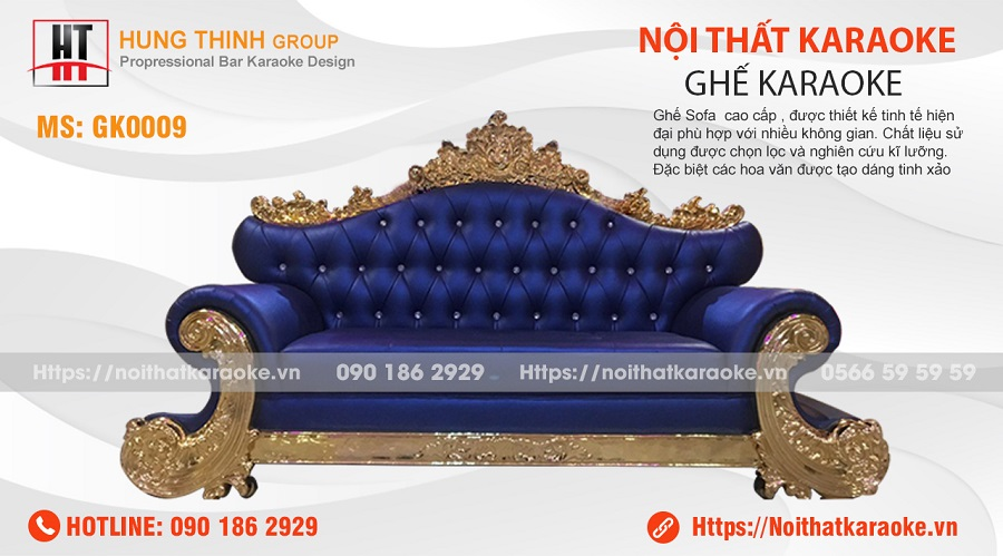 Ghế sofa tân cổ điển karaoke GK0009