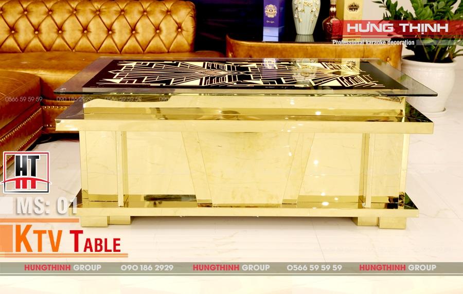 Mẫu bàn karaoke inox MS 001