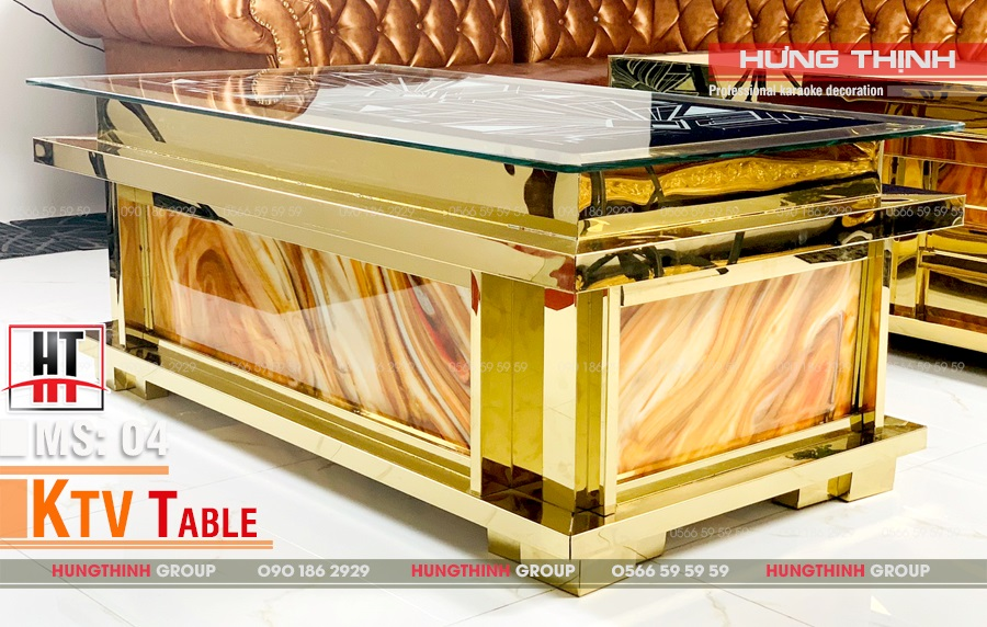 Mẫu bàn karaoke inox MS 004