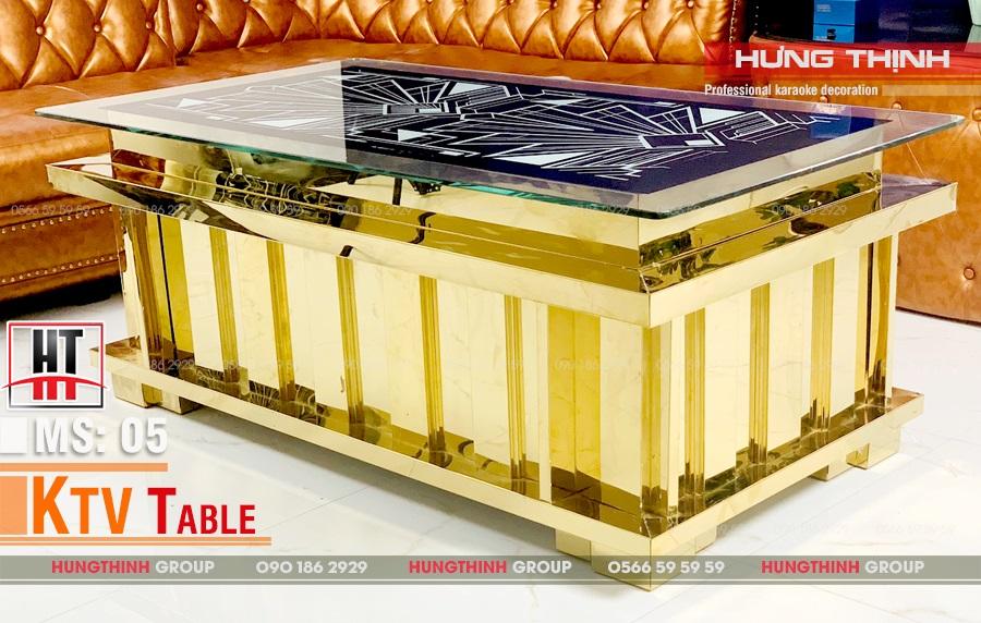 Mẫu bàn karaoke inox MS 005
