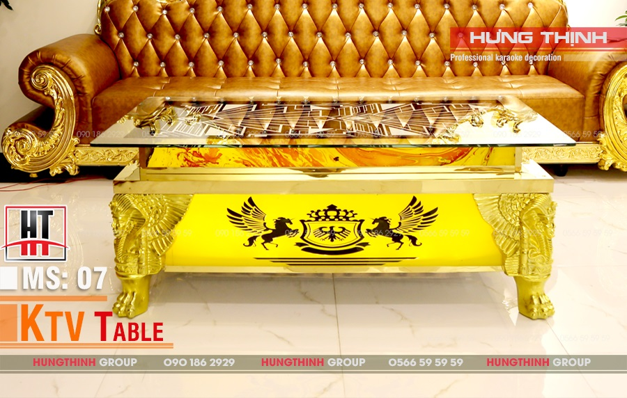 Mẫu bàn karaoke inox MS 07