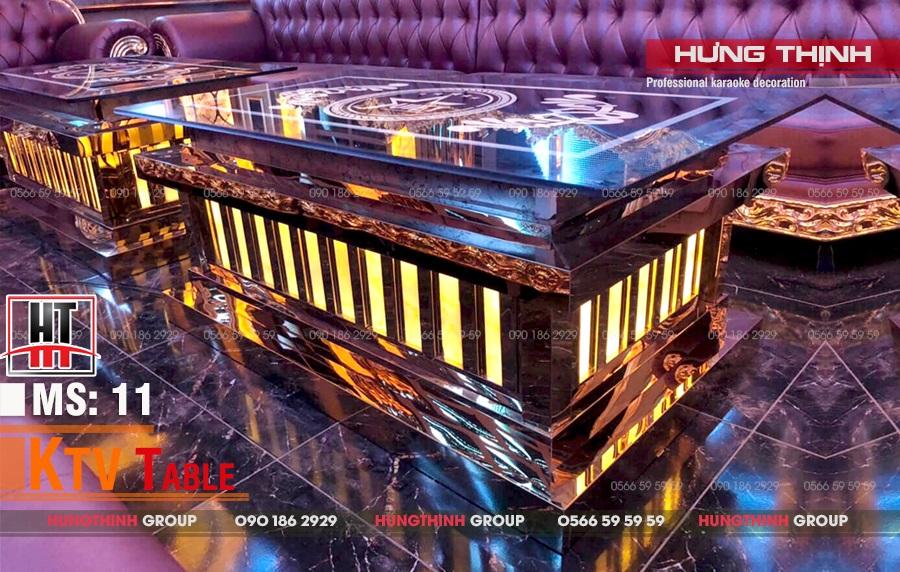 Mẫu bàn karaoke inox MS 11