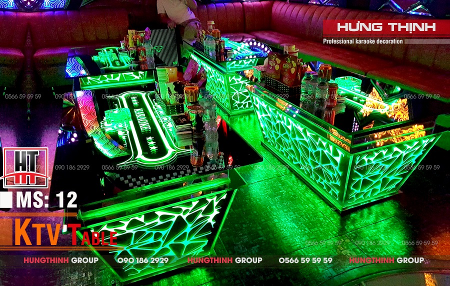 Mẫu bàn karaoke inox MS 12