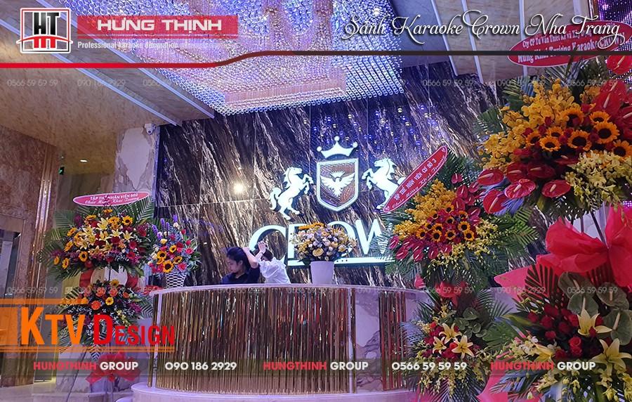 Quầy bar lễ tân karaoke Crown Nha Trang