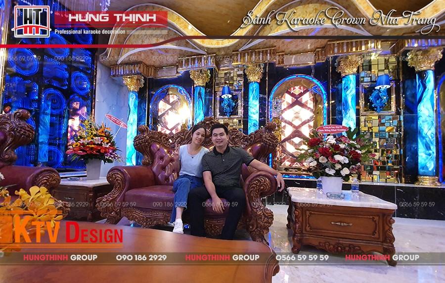 Sảnh karaoke Crown Nha Trang