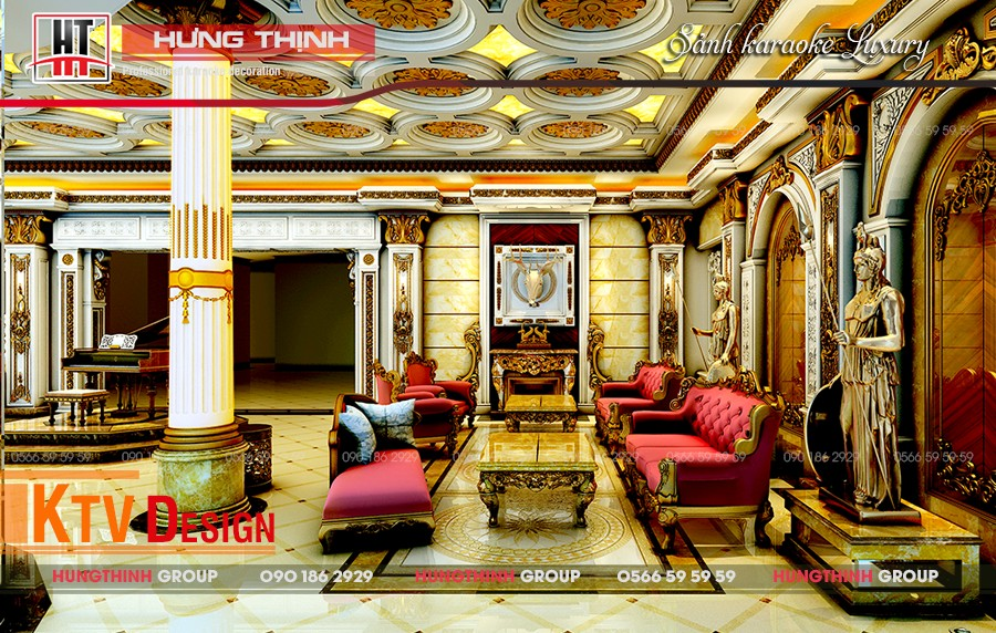 Sảnh lễ tân Karaoke Luxury Nha Trang