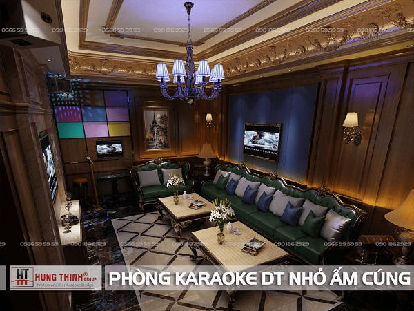 Phòng karaoke diện tích nhỏ ấm cúng