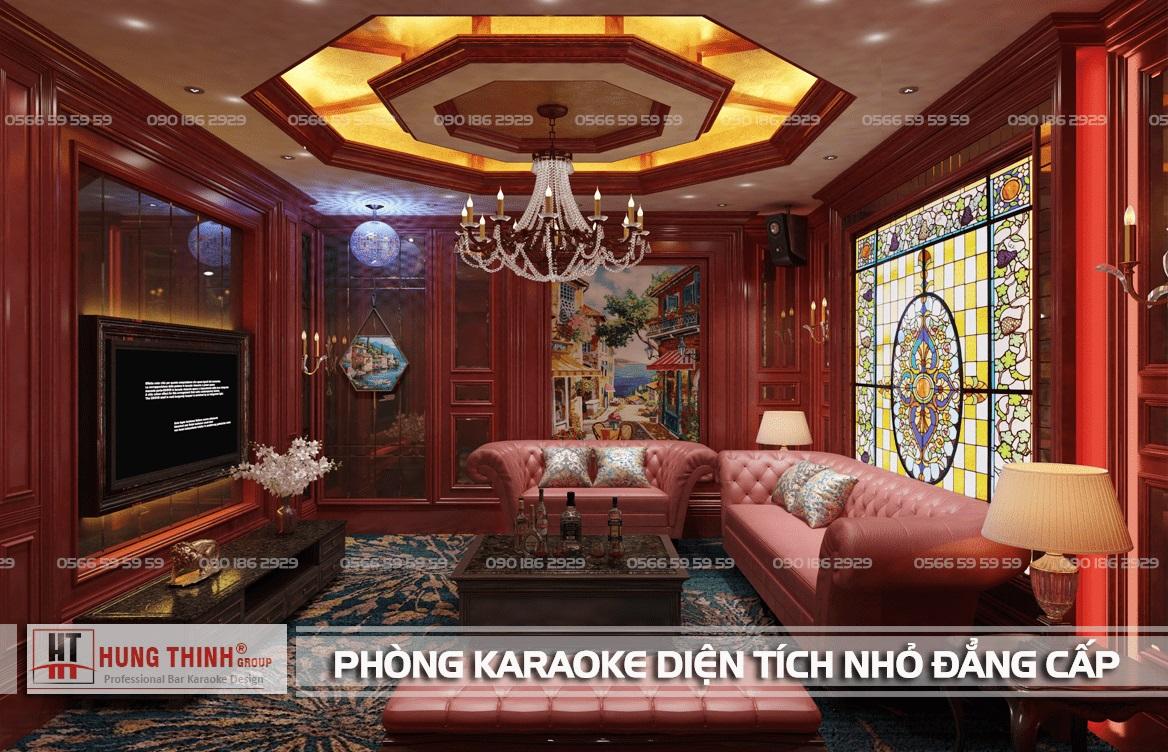 Phòng karaoke diện tích nhỏ đẳng cấp