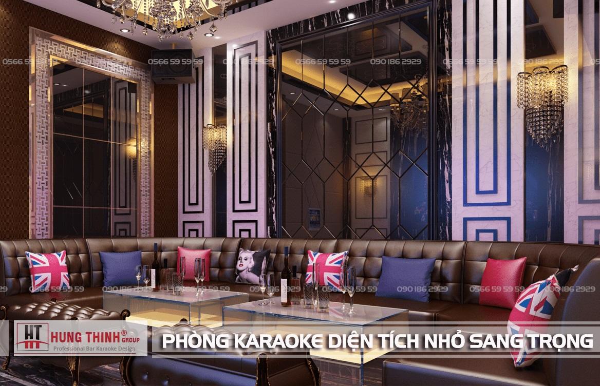 Phòng karaoke diện tích nhỏ sang trọng
