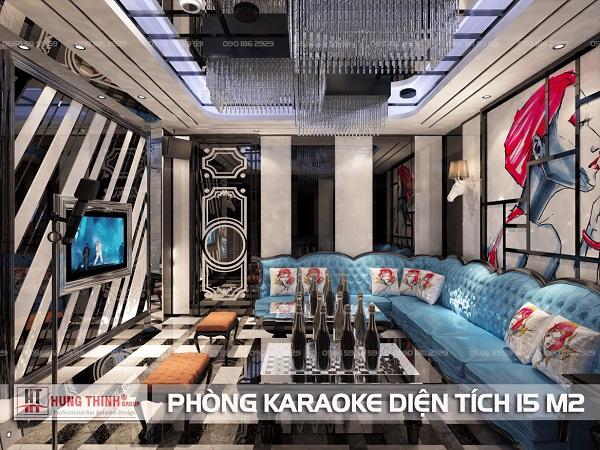 Phòng karaoke diện tích nhỏ 15 m2 sàn