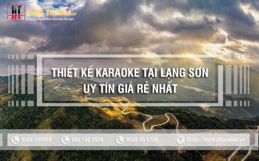 Thiết kế karaoke tại lạng Sơn