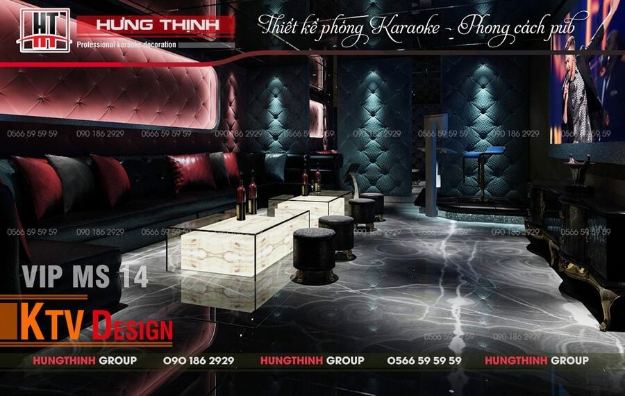 Mẫu phòng karaoke đơn giản sang trọng độc đáo do Hưng thịnh thiết kế
