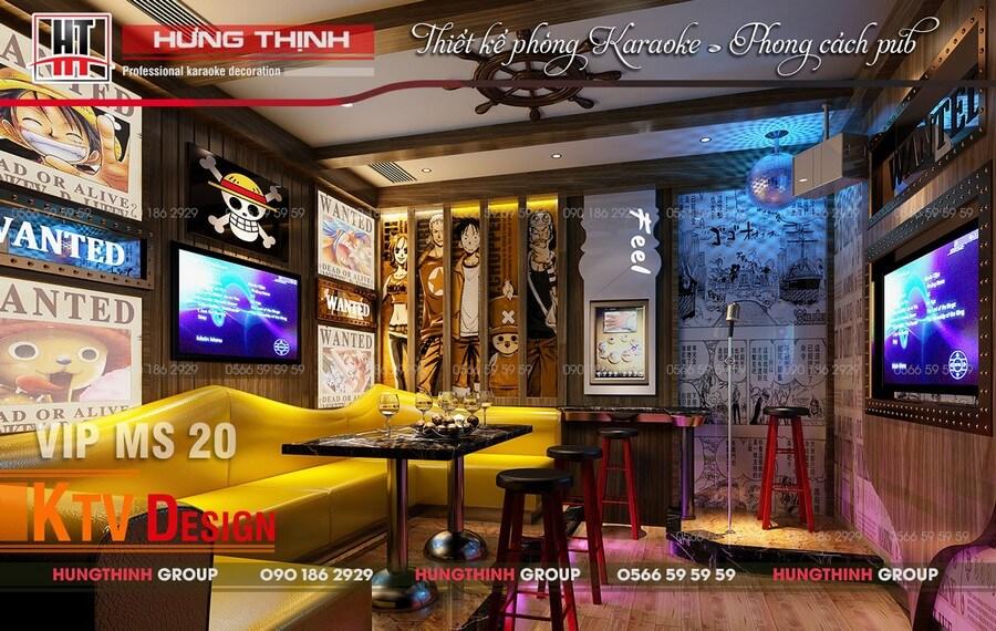 Phòng karaoke phong cách Pub MS 20