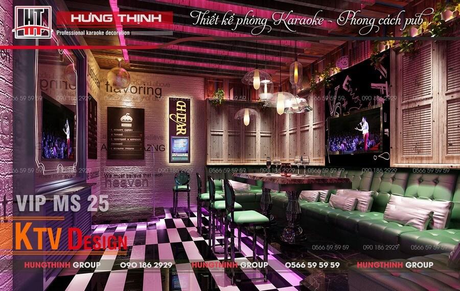 Phòng karaoke phong cách Pub MS25