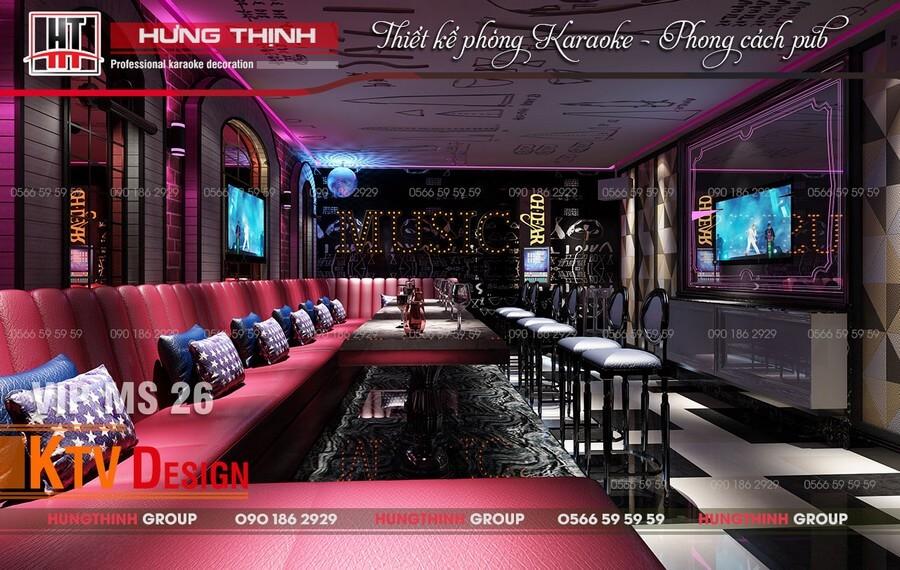 Phòng karaoke phong cách Pub MS26