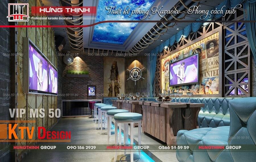 Phòng karaoke phong cách pub MS 50