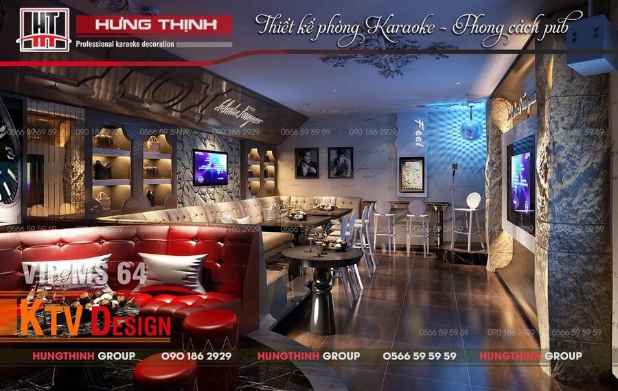 Phòng karaoke phong cách pub MS64