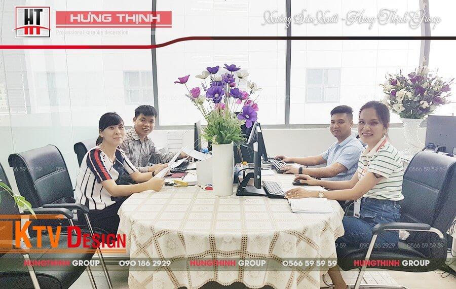 Văn phòng thiết kế tại Hưng Thịnh Group