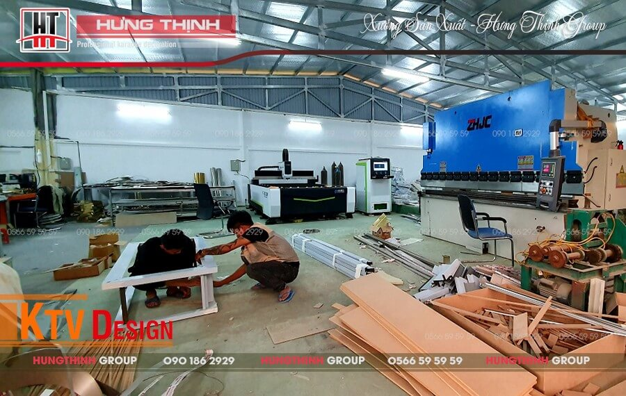 Hệ thống máy móc hiện đại tại Hưng Thịnh Group