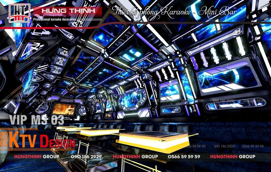 Mẫu phòng karaoke mini bar tại Cần Thơ