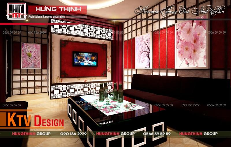 Thiết kế phòng hát phong cách Nhật ấn tượng nhẹ nhàng