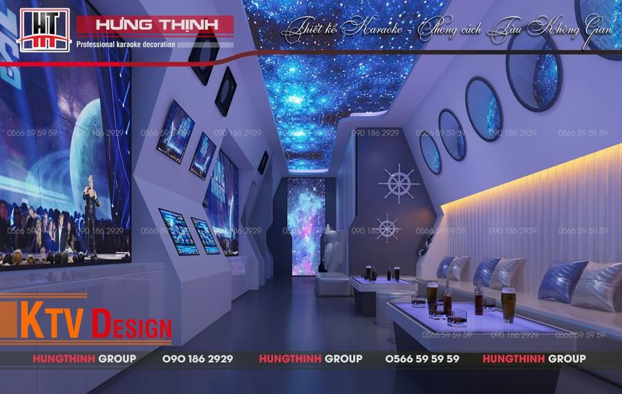 karaoke ý tưởng thiết kế theo tàu không gian