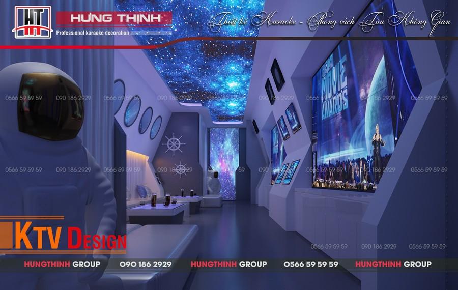 Phòng karaoke ý tưởng về tàu thám hiểm Apollo
