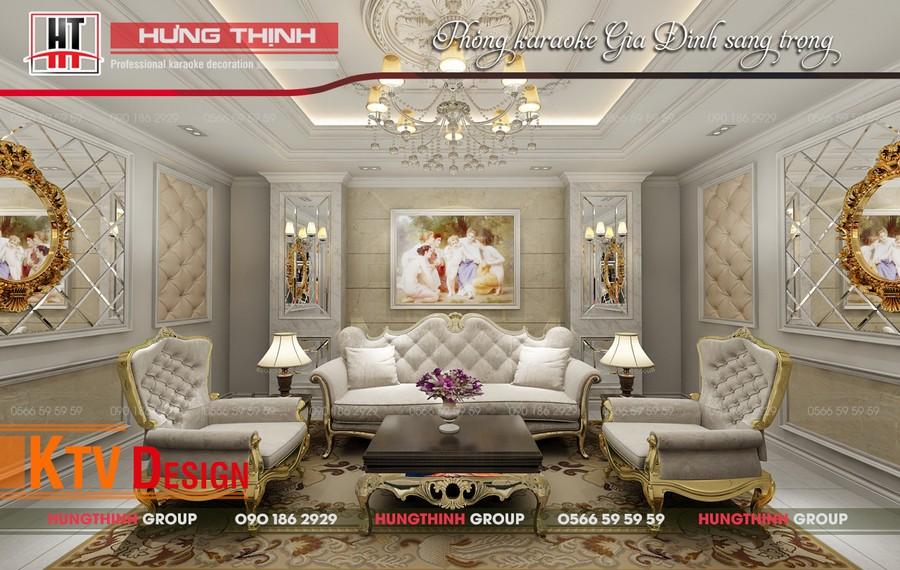 Phòng hát gia đình nhà chị Linh Quận 7