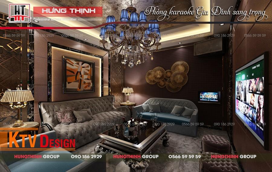 Mẫu phòng hát gia đình do Hưng Thịnh thiết kế