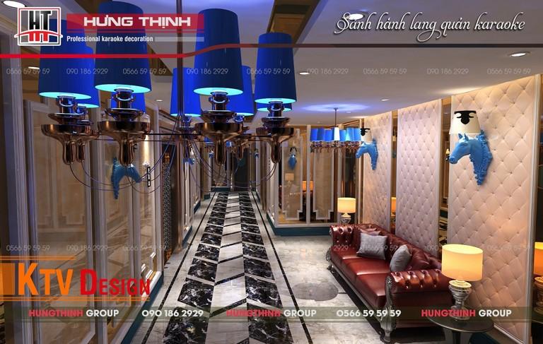 Mẫu hành lang sang trọng cho quán karaoke