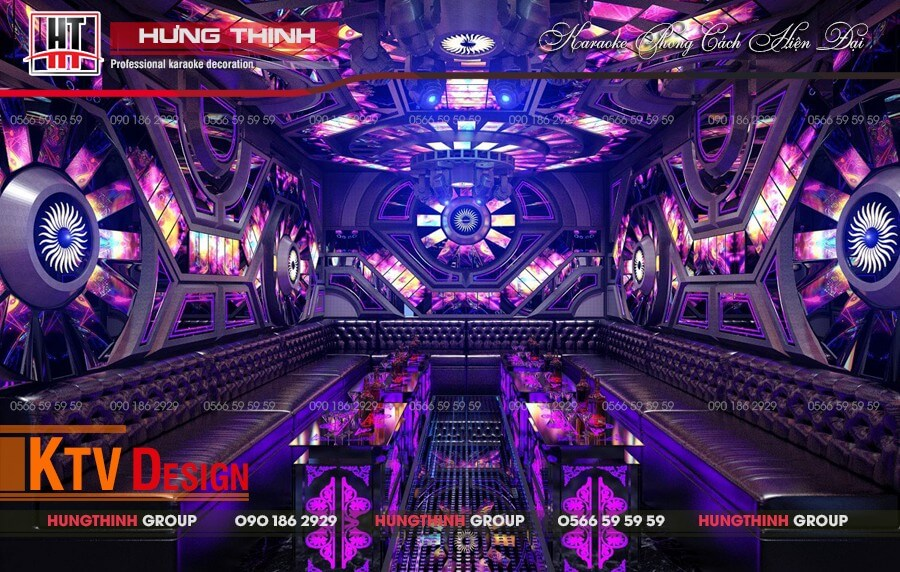 Phòng karaoke phong cách hiện đại tại Tây Ninh