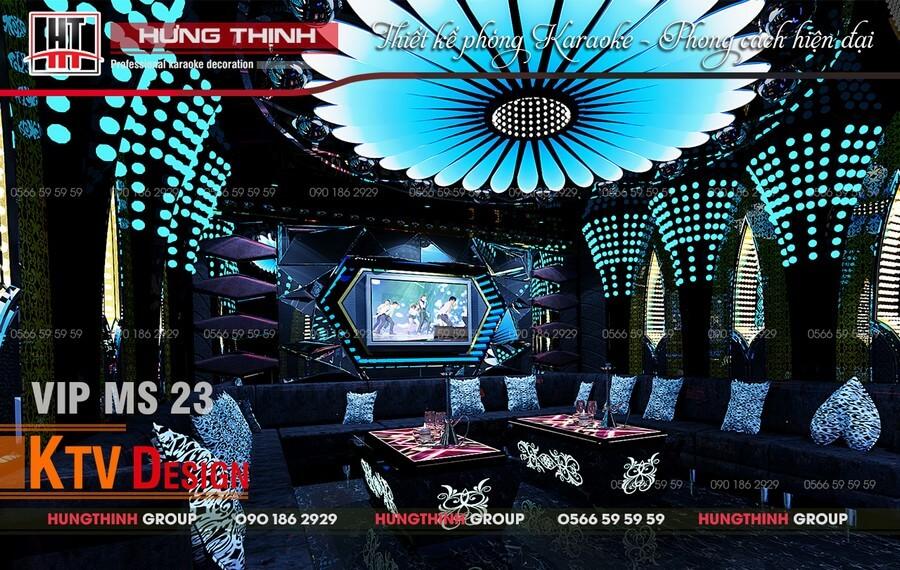 Phòng karaoke Vip sử dụng hiệu ứng led full