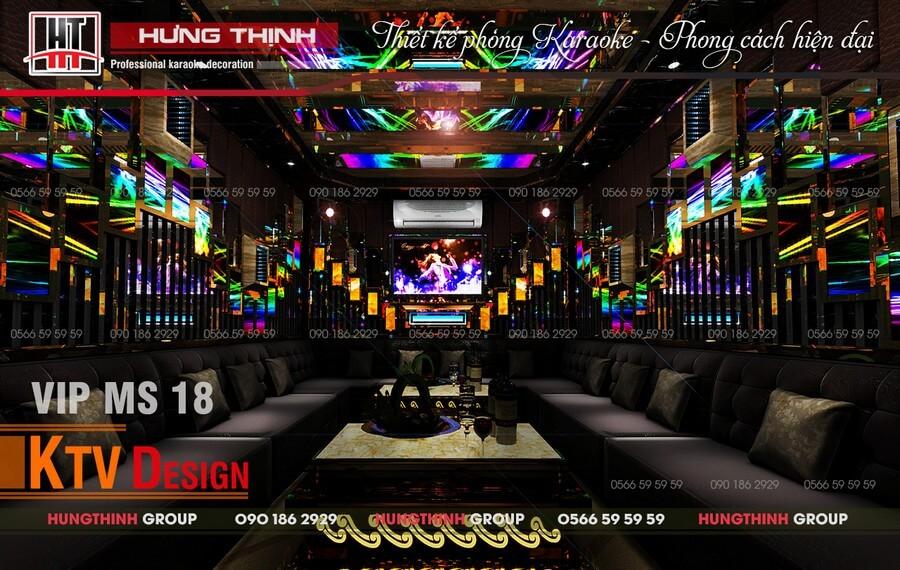 Mẫu phòng karaoke hiện đại giá rẻ MS 18