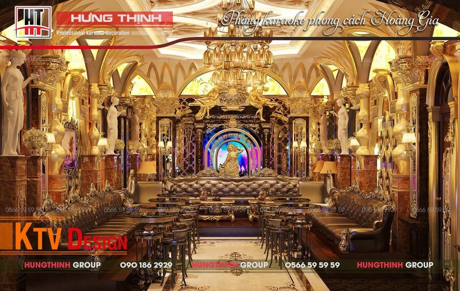 Mẫu phòng karaokehoàng gia tại Thanh Hóa.