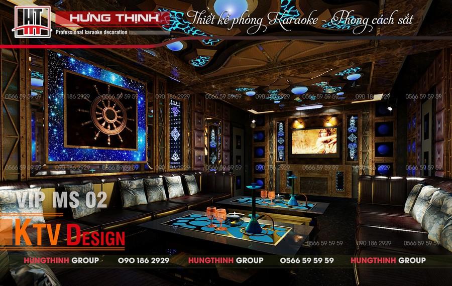 Phòng karaoke 303 phong cách sắt